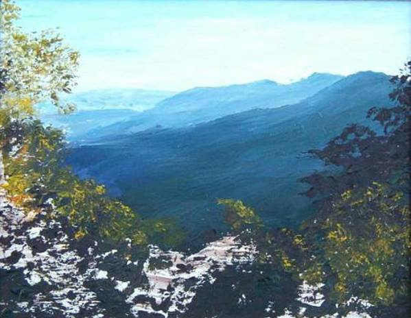 Landscape Art Print featuring the painting Blue Ridge by Tami Booher