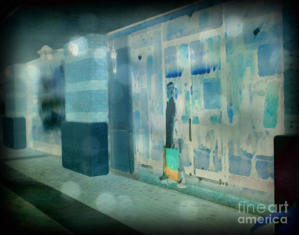 Post Processed Art Print featuring the photograph Blue Shopper by Paulette B Wright