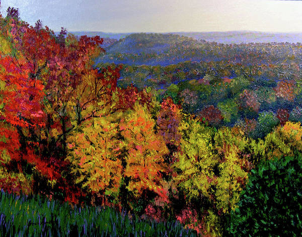 Landscape Art Print featuring the painting Brown County Autumn by Stan Hamilton