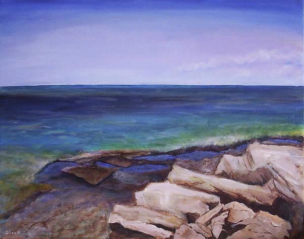 Seascape Art Print featuring the painting Bruce Peninsula by Silvia Philippsohn