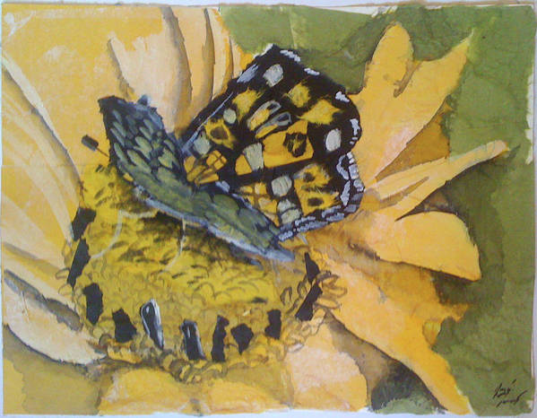 White Art Print featuring the mixed media Butterfly by Julie Morrison