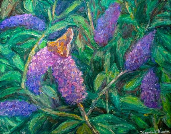 Butterfly Art Print featuring the painting Butterfly View by Kendall Kessler