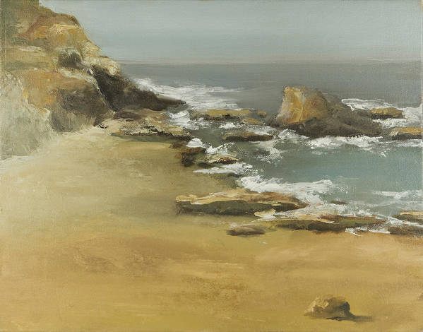 Seascape Art Print featuring the painting California Coast by Joni Herman
