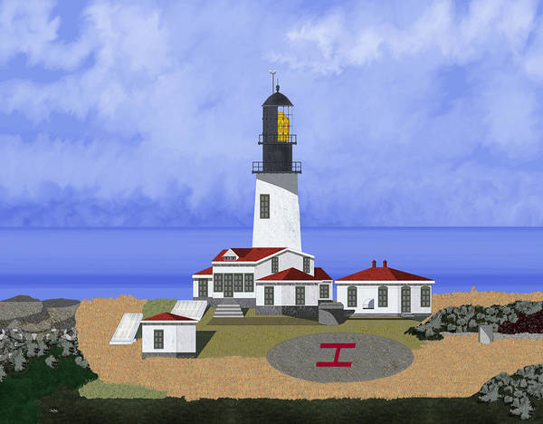 Seascape Art Print featuring the painting Cape Flattery Lighthouse On Tatoosh Island by Anne Norskog