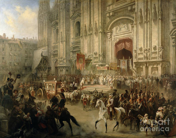 Ceremonial Print featuring the painting Ceremonial Reception by Adolf Jossifowitsch Charlemagne