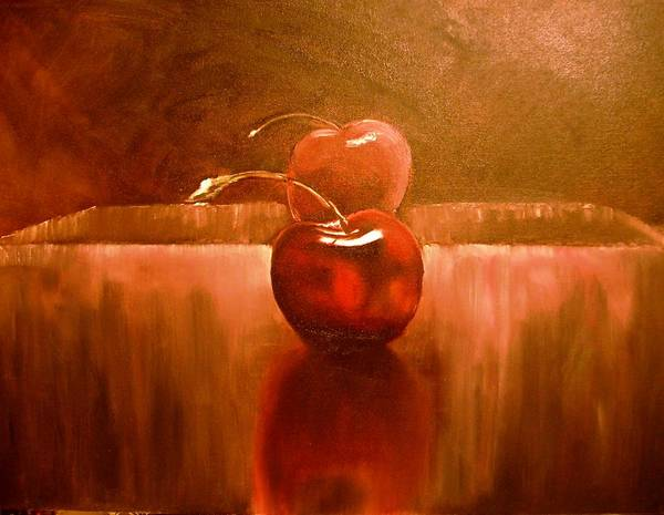 Cherry Art Art Print featuring the painting Cherry 23 Revised by Ruben Barbosa