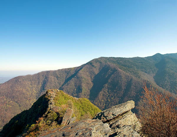 chimney Tops Art Print featuring the photograph Chimney Tops Vista In Great Smoky Mountain National Park Tennessee by Brendan Reals