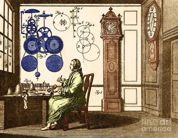 Engraving Art Print featuring the photograph Clockmaker by Photo Researchers