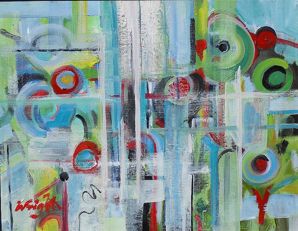 Abstract Art Print featuring the painting Close by Molly Wright