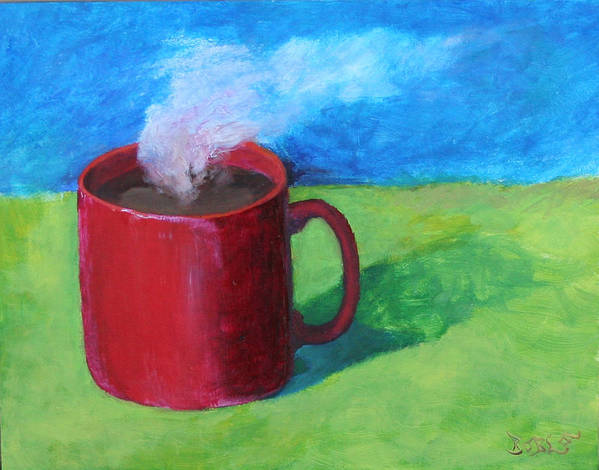 Landscape Art Print featuring the painting Coffee Landscape by Rf Hauver