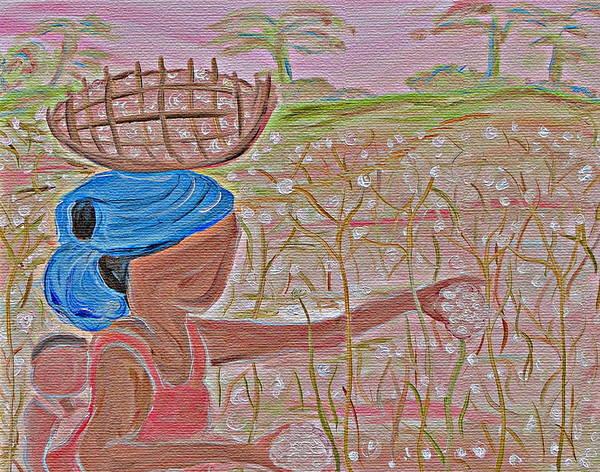 Cotton Art Print featuring the painting Cotton Balls by Carmen Jackson
