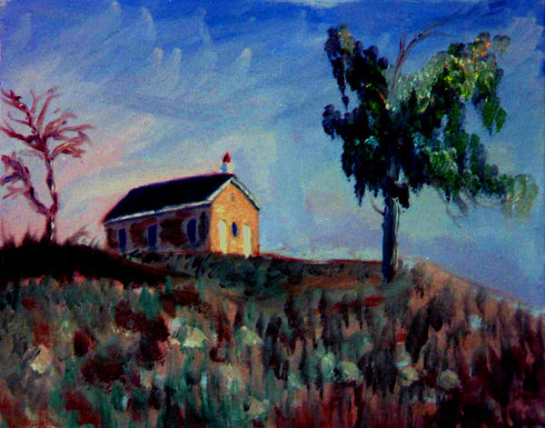School House Art Print featuring the painting Country School House by Stan Hamilton