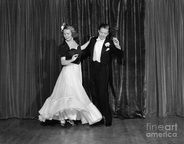 1930s Art Print featuring the photograph Couple Ballroom Dancing On Stage by H. Armstrong Roberts/ClassicStock