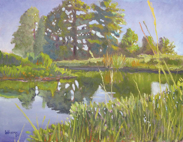 River Art Print featuring the painting Cross Creek by D T LaVercombe
