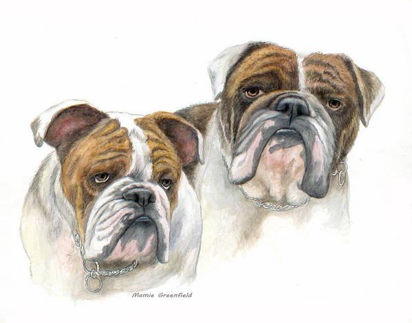Portraits Print featuring the painting daBullies by Mamie Greenfield