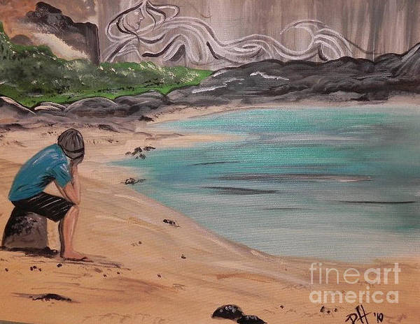 Beach Art Print featuring the painting Daydreams by Patti Spires Hamilton