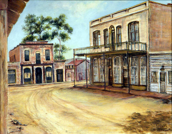 West Art Print featuring the painting Dayton Nevada by Evelyne Boynton Grierson