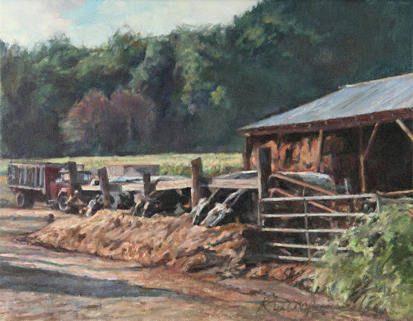 Farm Art Print featuring the painting Dinner Time by Robert Tutsky
