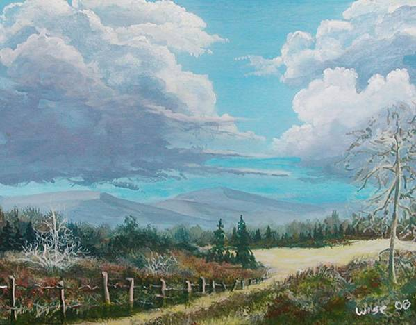 Lanscape Art Print featuring the painting Down To The Meadow by John Wise