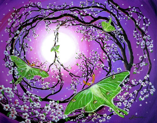 Acrylic Painting Art Print featuring the painting Drawn To The Light by Laura Iverson