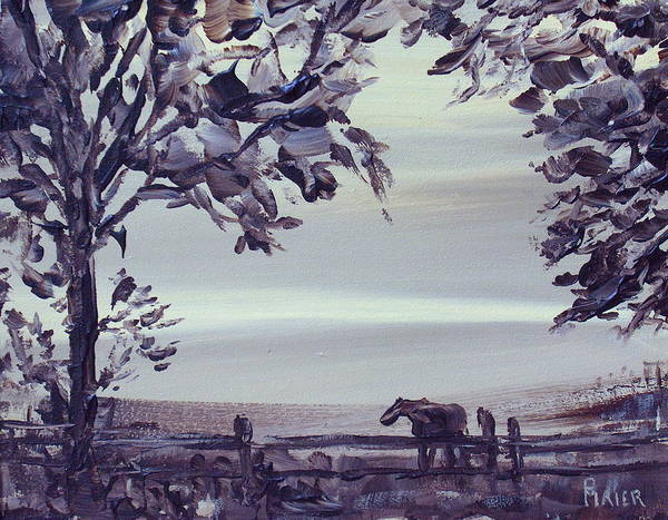 Horse Art Print featuring the painting Dreamin by Pete Maier