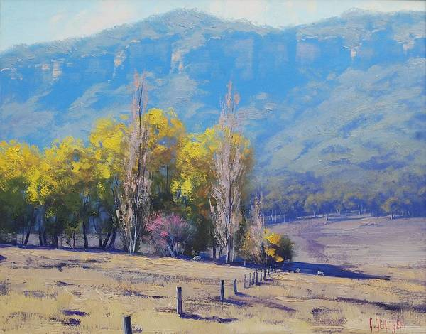 Rural Art Print featuring the painting Dry Autumn by Graham Gercken