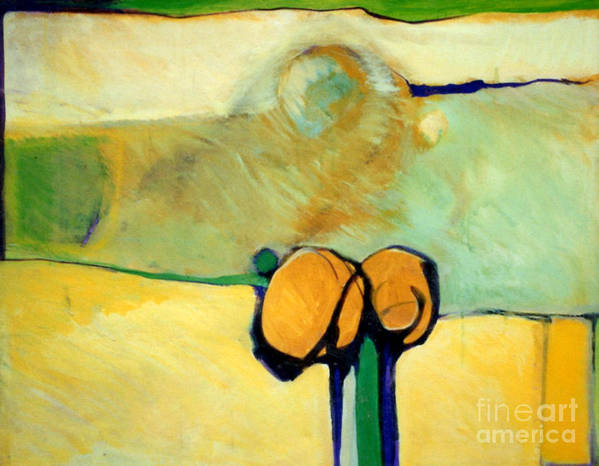Abstract Art Print featuring the painting Early Blob 2 Jump Rope by Marlene Burns