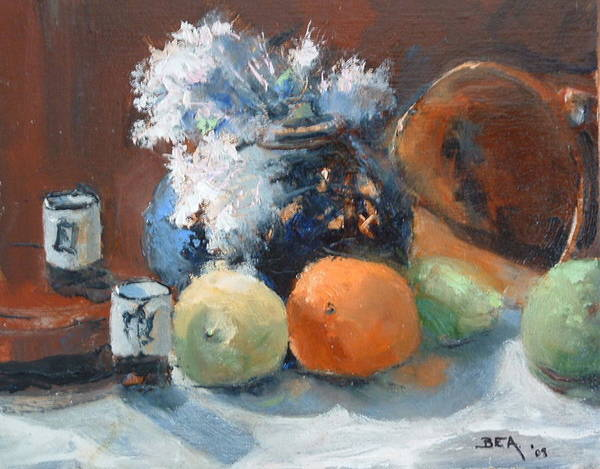 Still Life Jasmine In Bloom Art Print featuring the painting Easter Jasmine by Bryan Alexander