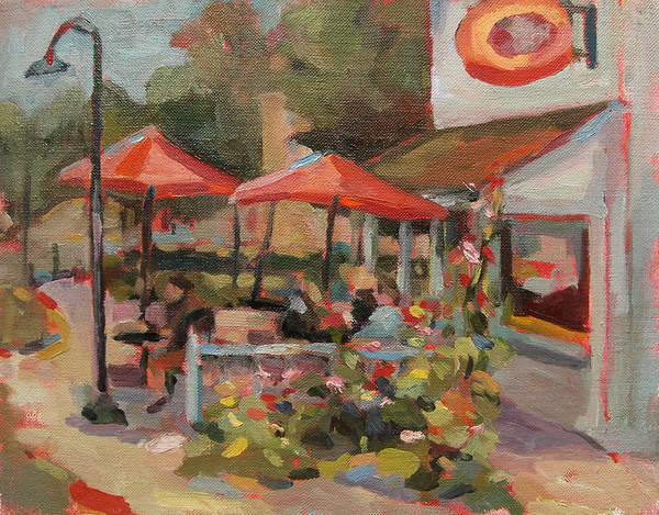 Landscape Paintings Art Print featuring the painting Egg Harbor by Jenny Anderson