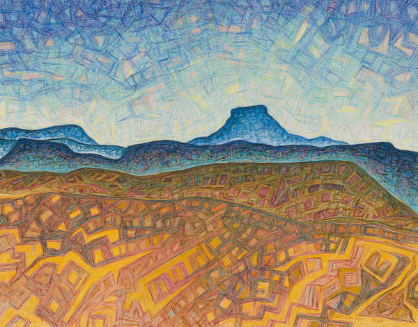 Pastel Art Print featuring the drawing Electromagnetic Observation by Dale Beckman
