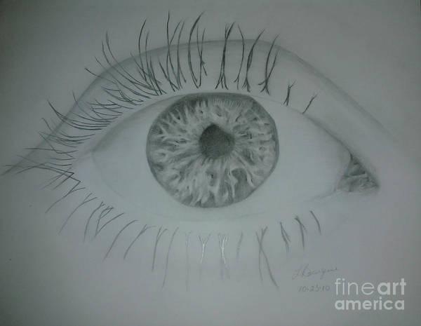 Eye Art Print featuring the drawing EYE by Liz Bourque