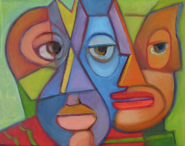 Picasso Art Print featuring the painting Eye To Eye by Pam Baker