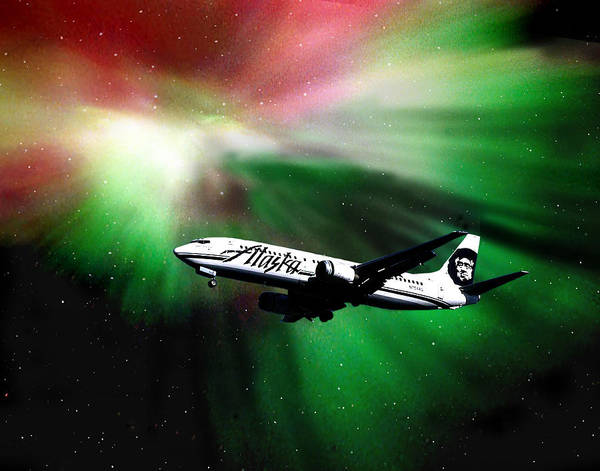 Aurora Art Print featuring the photograph Flying Through Aurora by Dianne Roberson
