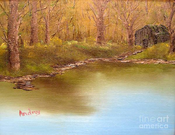 Water Art Print featuring the painting Forgotten Lake by Todd Androy