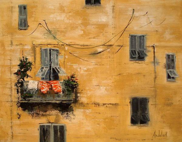 French Art Print featuring the painting French Laundry by Barbara Andolsek