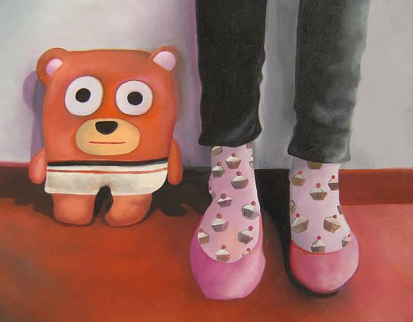 Bear Art Print featuring the painting Friends 3 by Anastassia Neislotova
