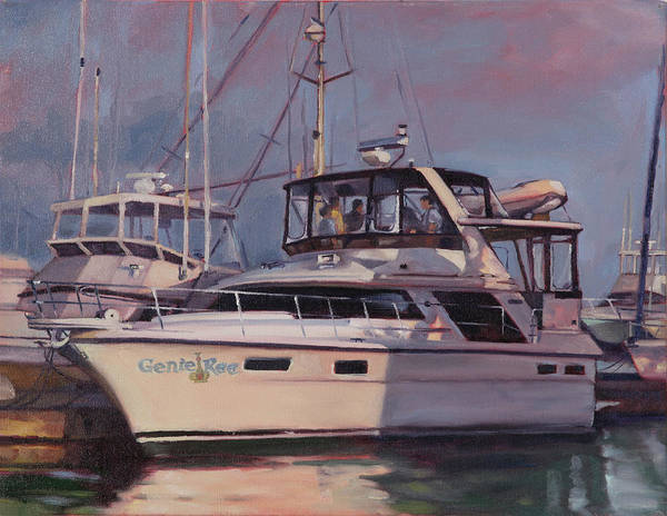 Harbor Art Print featuring the painting Genie Ree by Todd Baxter