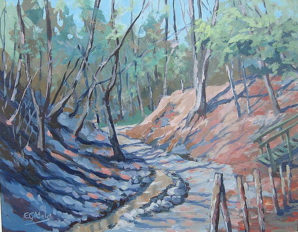 The Beach Art Print featuring the painting Glen Stewart Ravine by Edward Abela