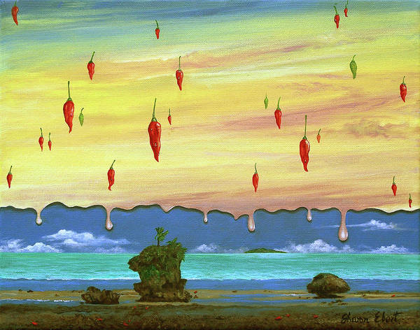 Surreal Painting Art Print featuring the painting Global Meltdown by Sharon Ebert