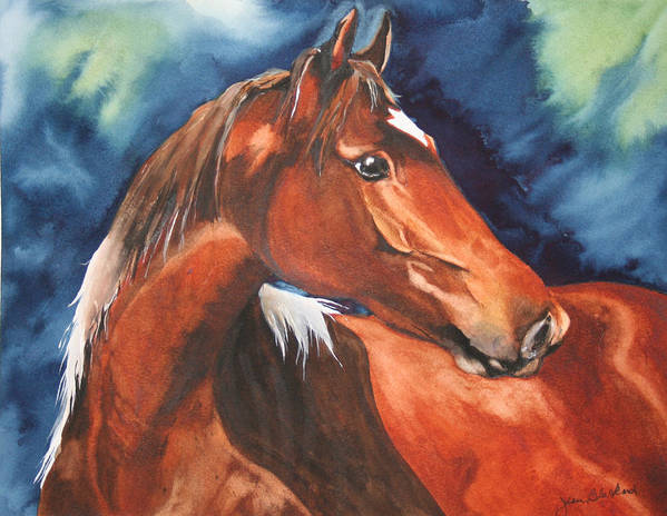 Horse Art Print featuring the painting Golden Boy by Jean Blackmer