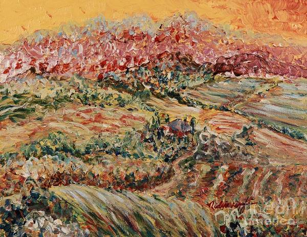 Provence Art Print featuring the painting Golden Provence by Nadine Rippelmeyer