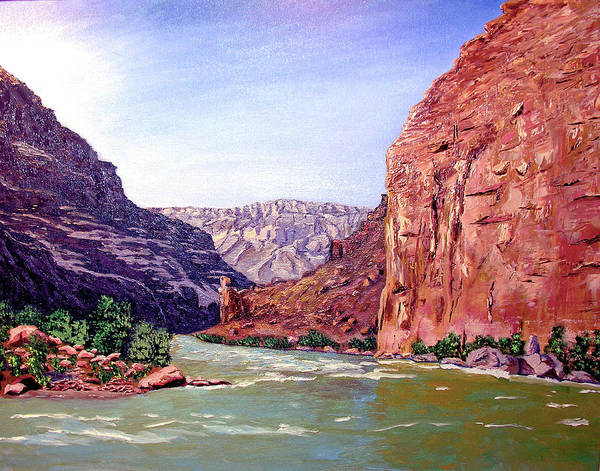 Original Oil On Canvas Art Print featuring the painting Grand Canyon I by Stan Hamilton