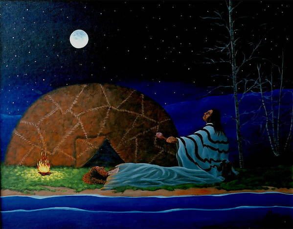 Healing Art Print featuring the painting Healing Ceremony by Arnold Isbister