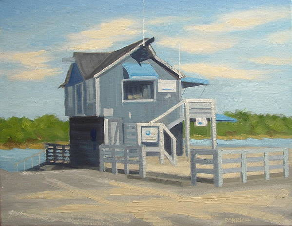 Boat House Art Print featuring the painting H.h. Boat House by Robert Rohrich