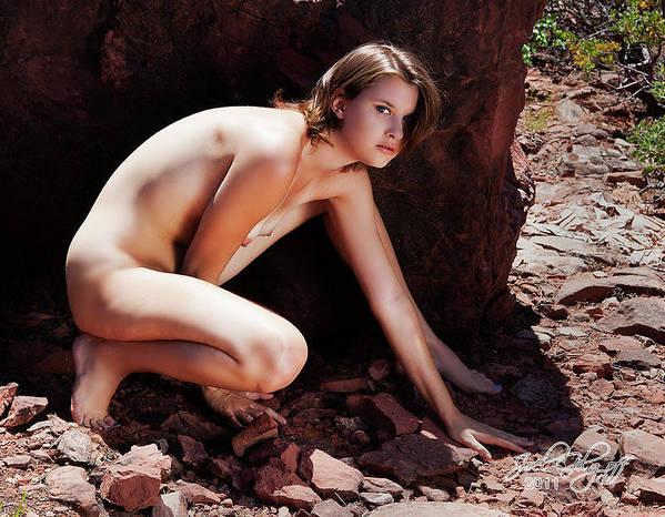 Nude Art Print featuring the photograph Hidden by Joel Gilgoff