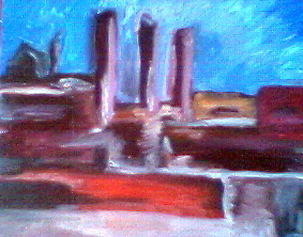 Homesteasd Art Print featuring the painting Homesteas Works by John Toxey