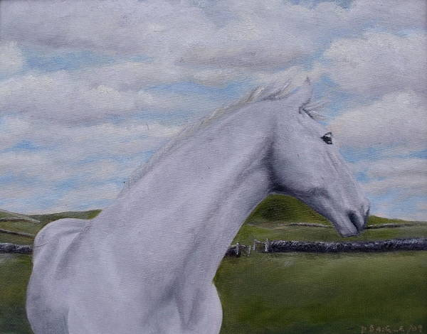 Horse Art Print featuring the painting Horse by Diane Daigle