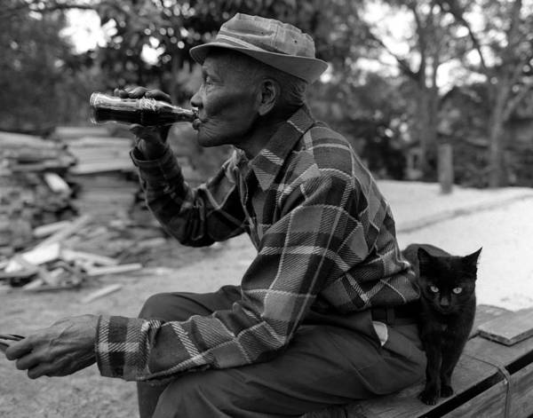 Black And White Photography Art Print featuring the photograph Ike Ward 118 Years Old by Matthew Altenbach