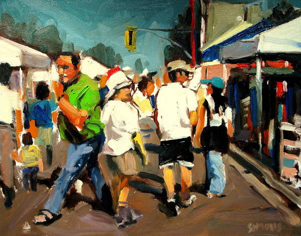 Landscape Paintings Art Print featuring the painting In A Hurry by Brian Simons
