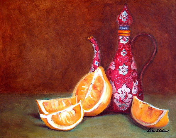 Lemons Art Print featuring the painting Iranian Lemons by Portraits By NC